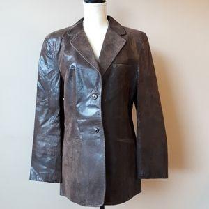 Avenue leather blazer